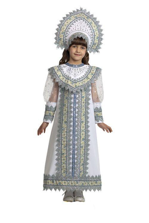 Детский костюм русской снегурочки (34) костюм снегурочки конфетки 40 44