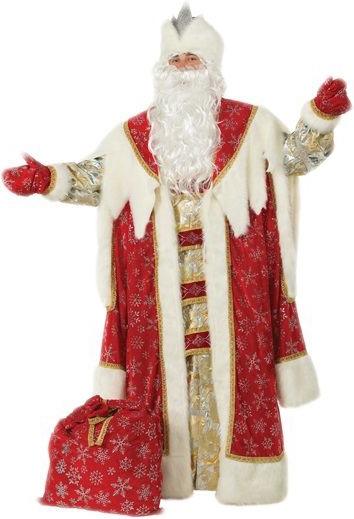 Красный костюм Деда Мороза (56) костюм деда мороза ивановский текстиль