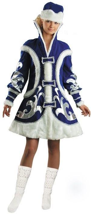 Костюм снегурочки боярыни (44-48) костюм снегурочки конфетки 40 44