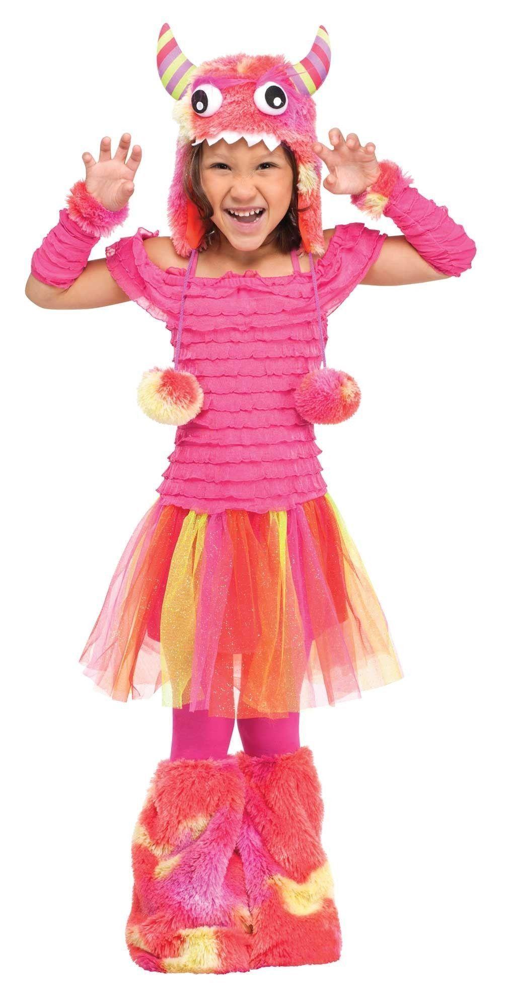 Костюм Монстрика-оторвы розовый (24) ботинки блестящие с помпонами 19 24