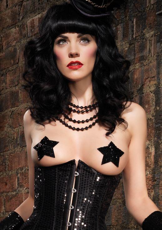 Наклейки на соски звездочки (UNI) leg avenue платье черное 2 сезон