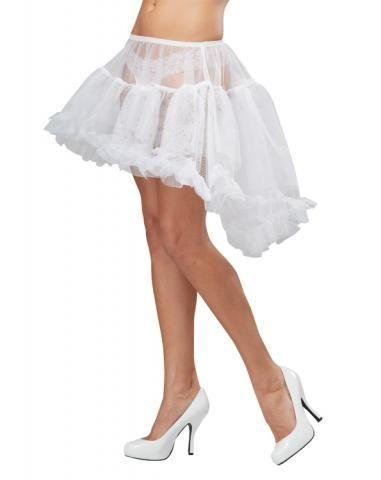 Подъюбник ассиметричный белый (50-52) -  Подъюбники и юбки