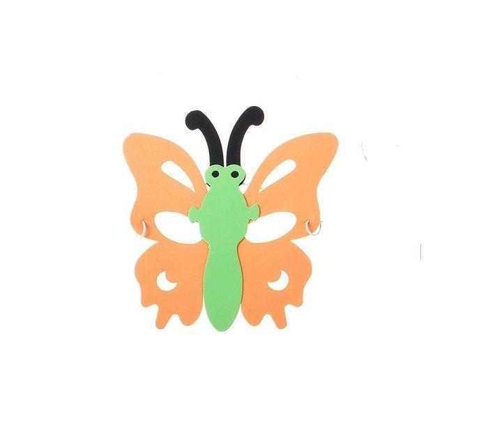 Маска в форме бабочки оранжевая от Vkostume