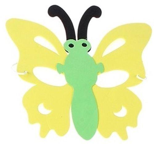 Маска в форме бабочки желтая от Vkostume