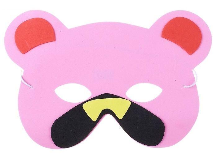 Карнавальная маска медвежонка (UNI) плащ и маска штурмовик uni