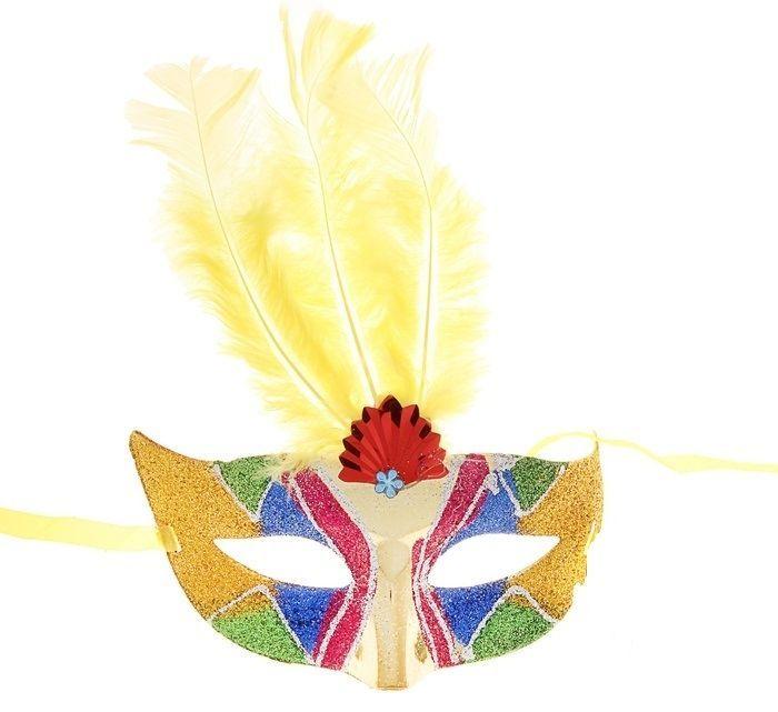 Карнавальная маска разноцветная (UNI) плащ и маска штурмовик uni