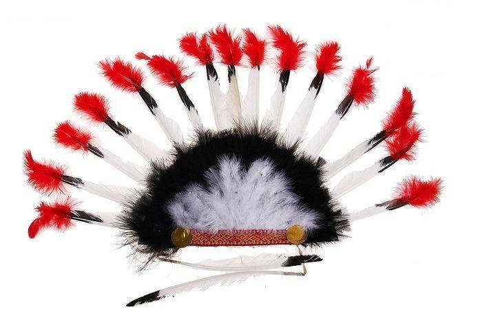 Головной убор индейца с перьями
