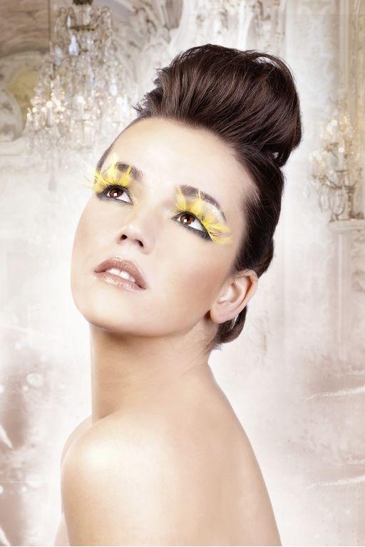 Ресницы желтые перья (UNI) комплект мисс пигги uni