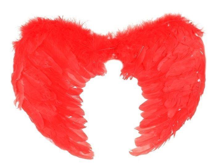 Крылья ангела красные с перьями от Vkostume