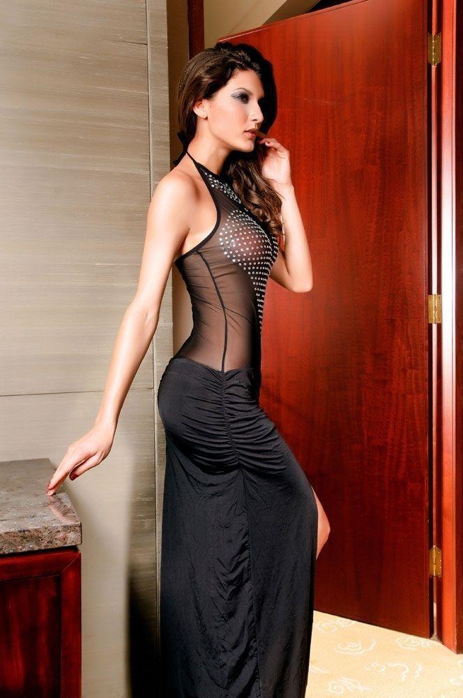 Черное платье со стразами (42) от Vkostume