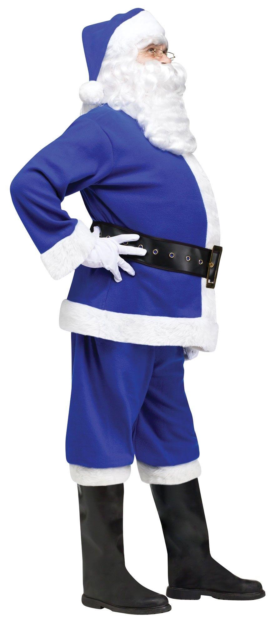 Синий костюм Санты (56) - Новогодние костюмы, р.56