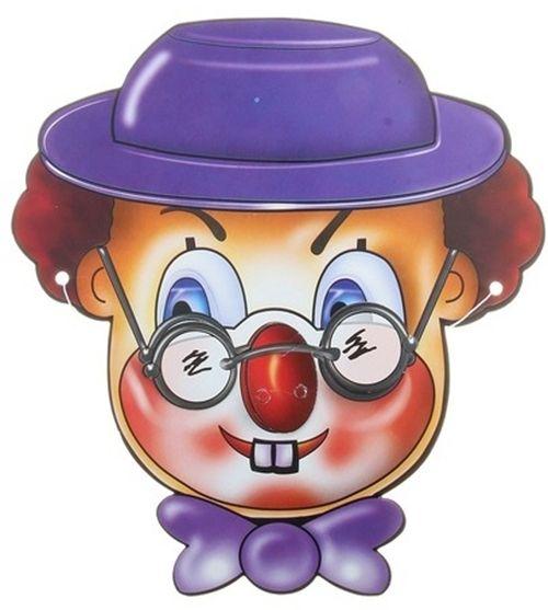 Маски клоун в шляпе (UNI) плюшевая маска зайки uni
