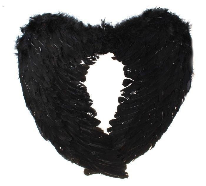 Крылья ангела черные 60 см - Крылья ангелов и демонов