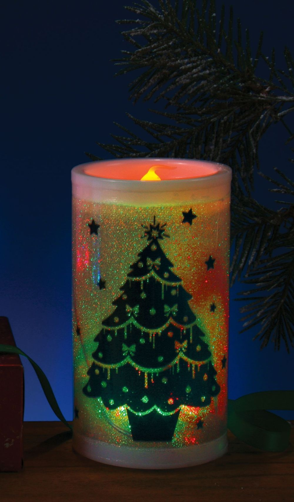 Декоративная свеча новогодняя (UNI)