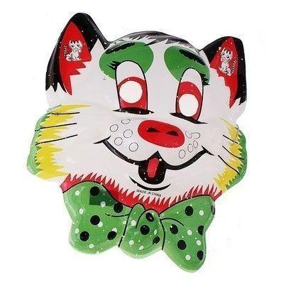 Маска кота с зеленым бантом от Vkostume
