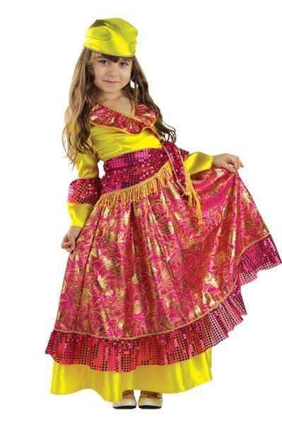 Детский костюм цыганки (34) детский костюм озорного клоуна 34