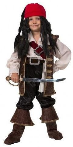 Костюм молодого Джека Воробья (34) черная жемчужина корабль капитана джека воробья