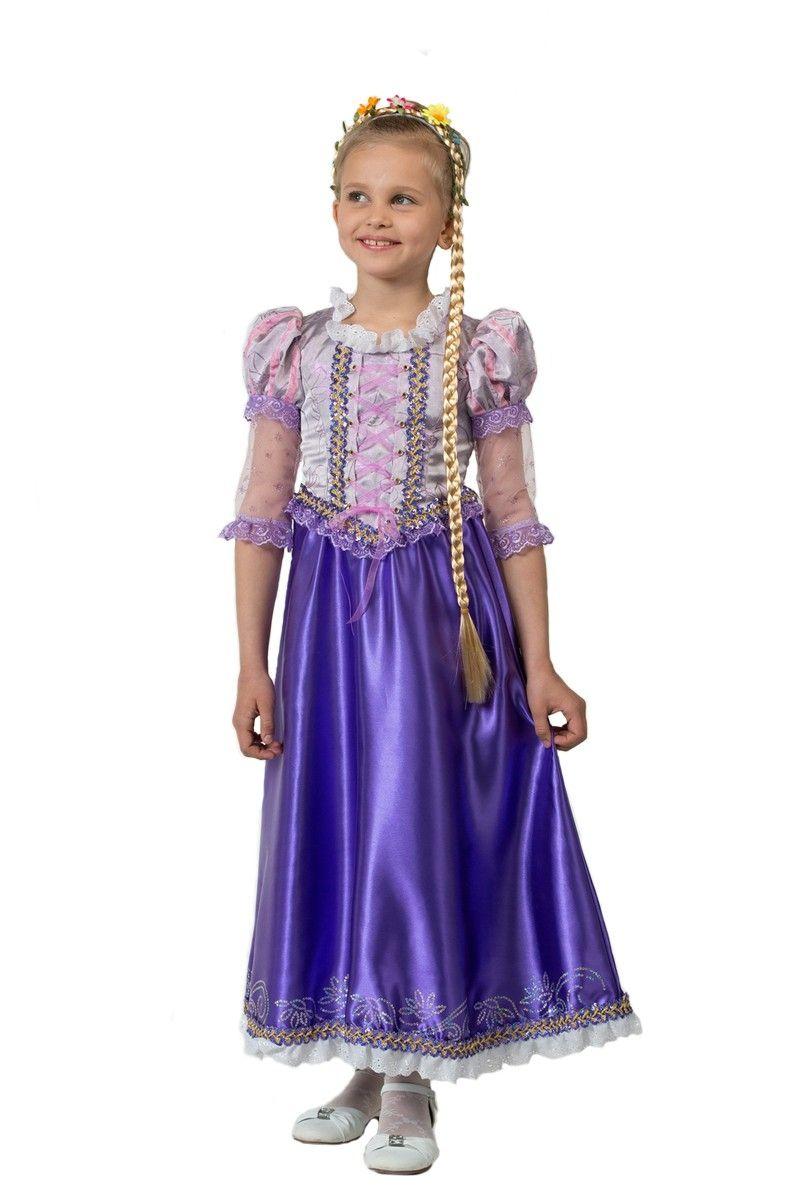 Костюм красотки Рапунцель (34) детский костюм озорного клоуна 34