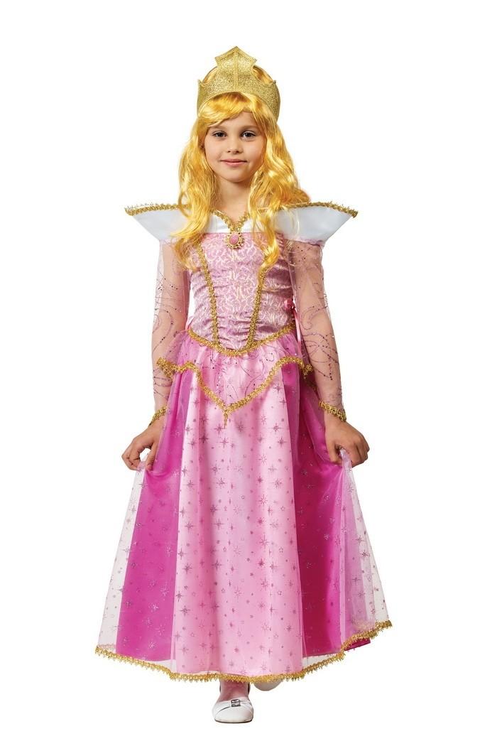 Детский костюм принцессы Авроры (34) детский костюм фиолетовой феи виндс 34