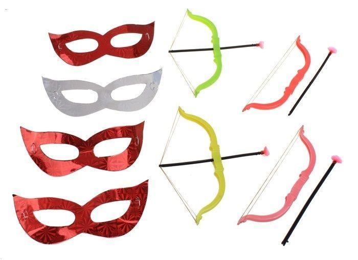 Набор Святого Валентина (UNI) маска в форме бабочки оранжевая uni