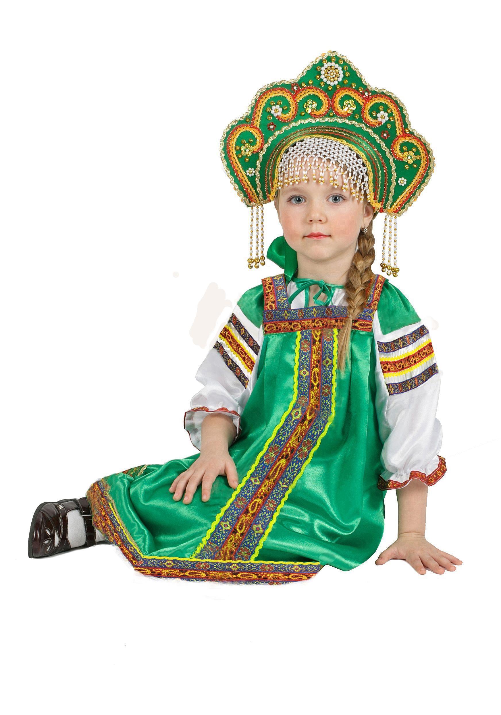 Купить со скидкой Атласный зеленый костюм Аленушка (26)