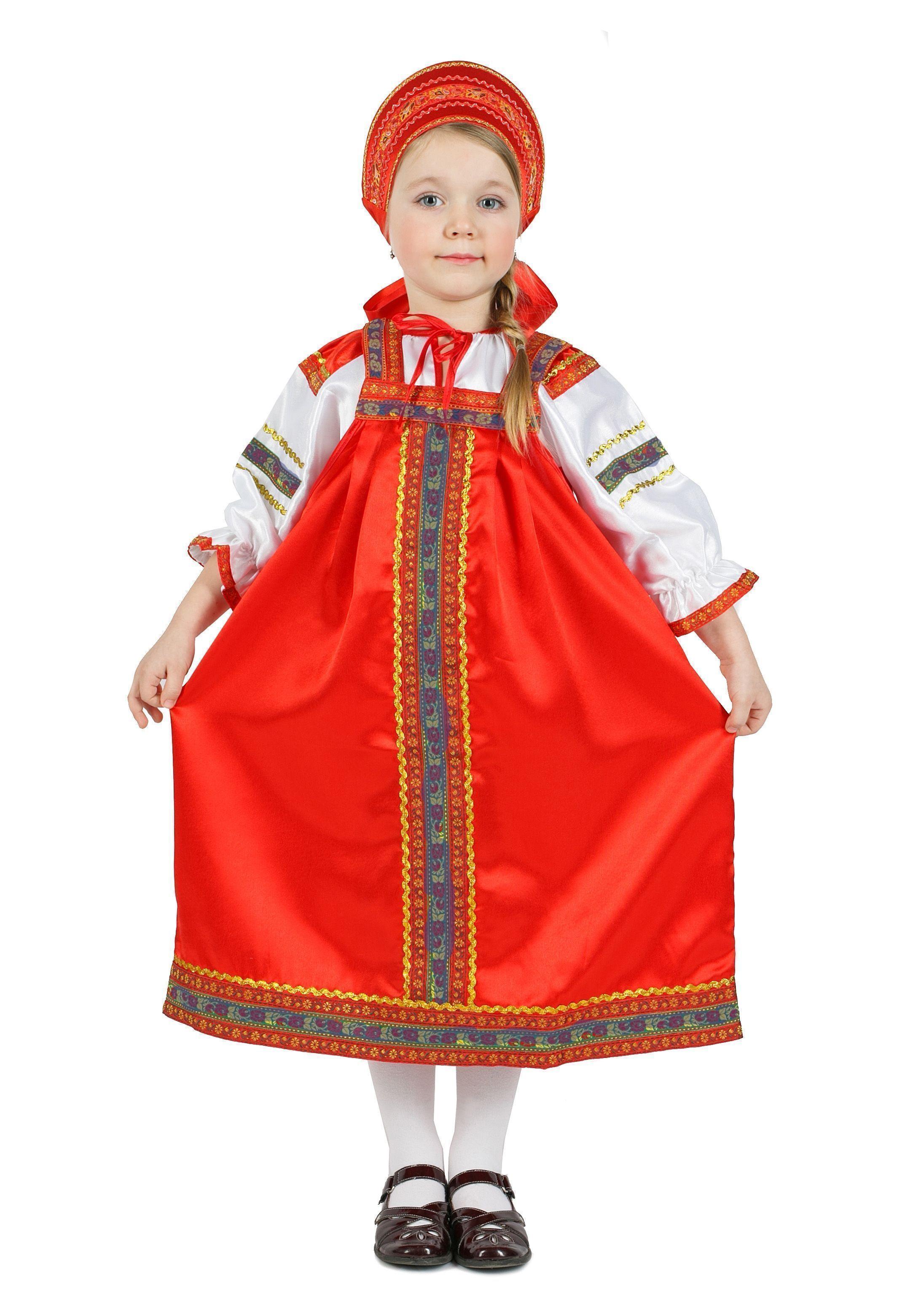 Атласный красный костюм Настенька (38) от Vkostume