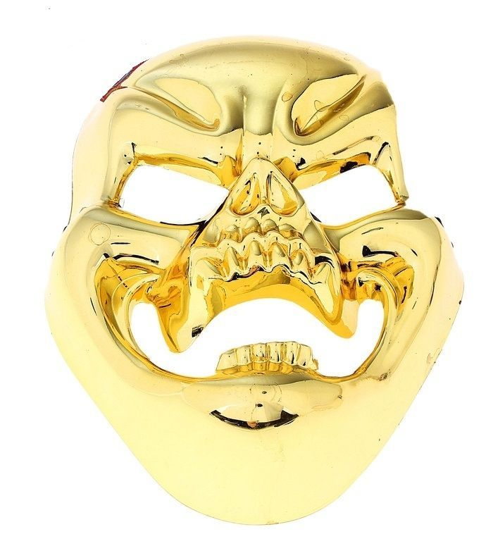 Золотистая маска смеющегося черепа (UNI) маска черепа с рукой uni