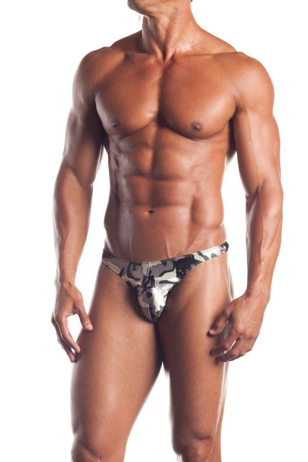 Мужские камуфляжные стринги (48-52) -  Мужское белье