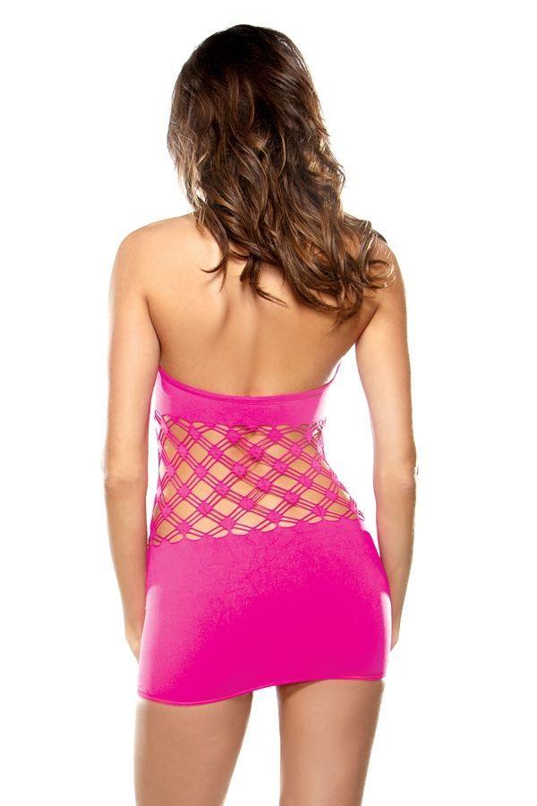 Розовое платье с сетчатой вставкой (42) от Vkostume