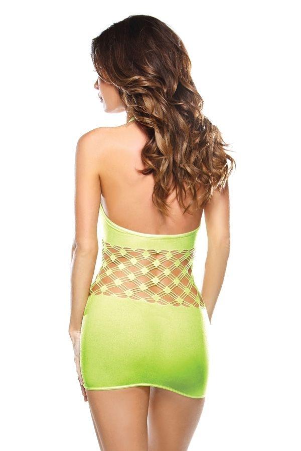 Яркое зеленое платье с сетчатой вставкой (46) от Vkostume