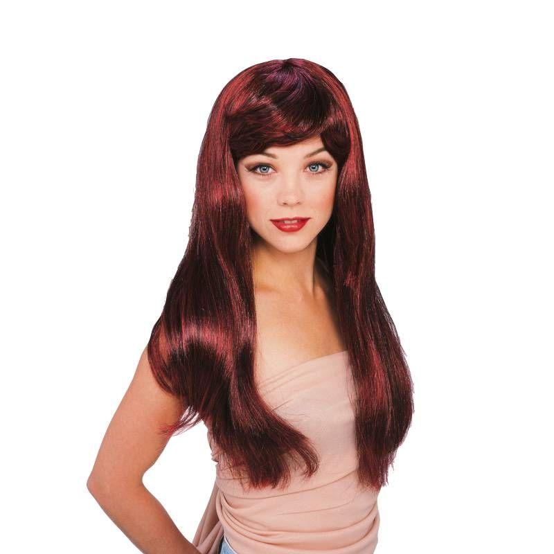 Бордовый гламурный парик парик для волос