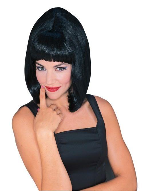 Черный парик старлетки (UNI) фиолетовый парик дамочки uni