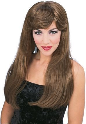 Гламурный парик шатенки (UNI) rubies белый парик урсулы