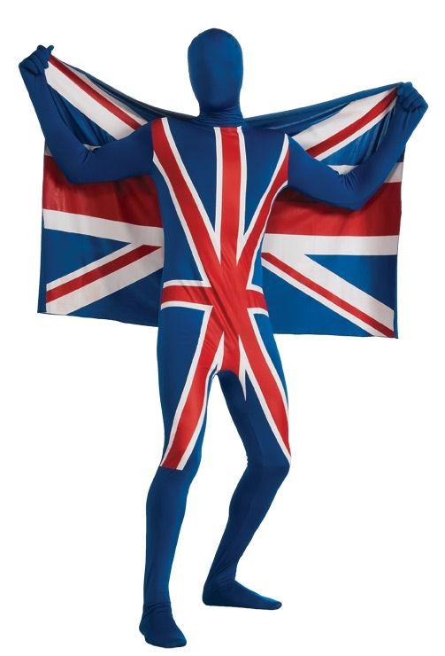 Костюм Великобританский флаг вторая кожа (54)