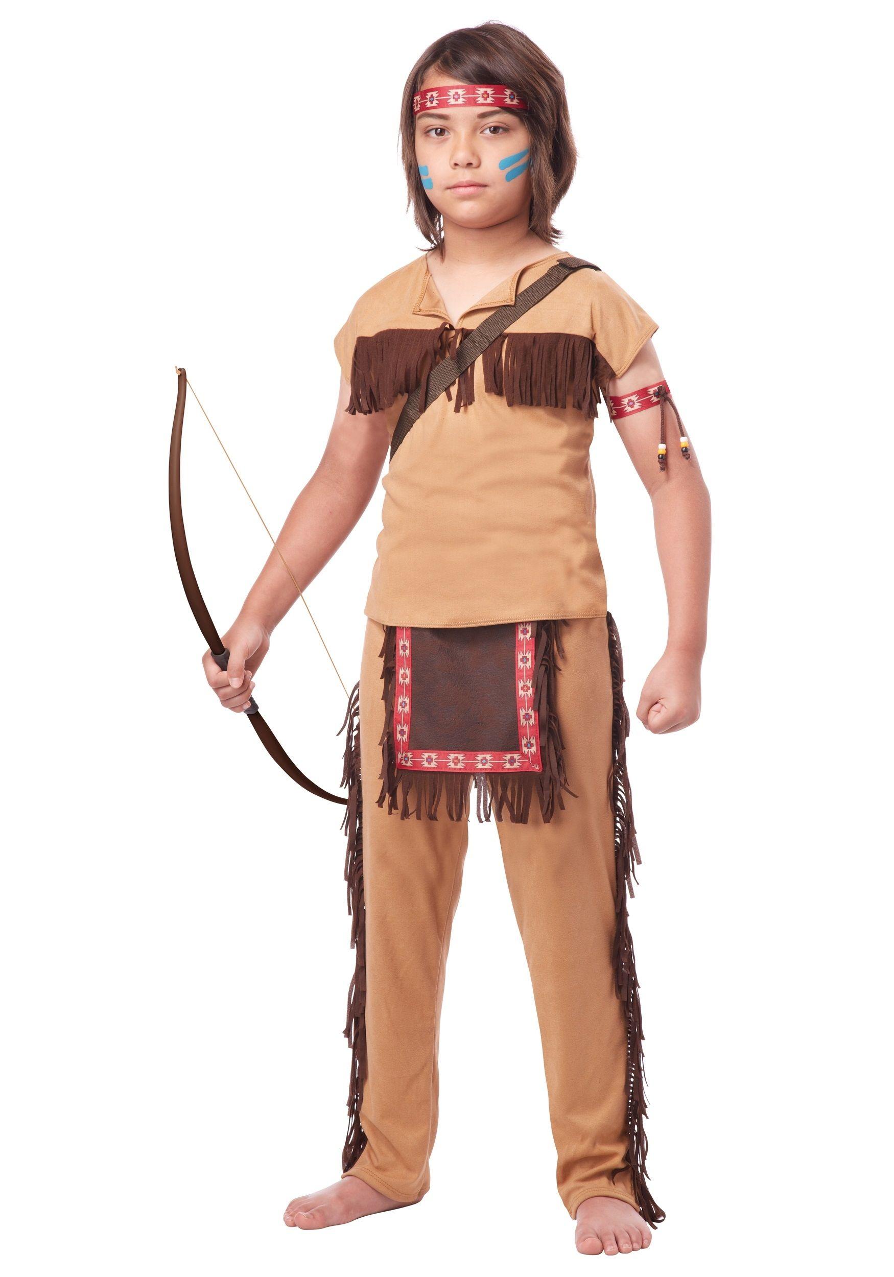 Детский костюм храброго индейца (38)
