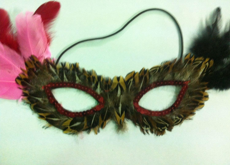 Маска на глаза разноцветная - Карнавальные маски