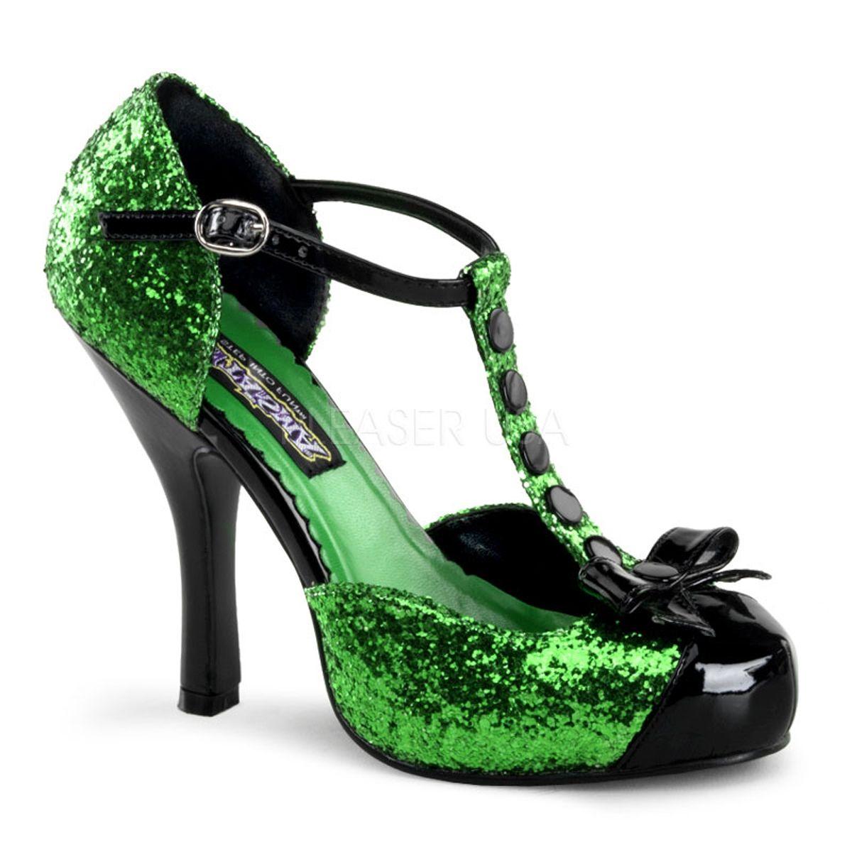 Женские зеленые туфли (28) - Обувь для костюмов, р.28