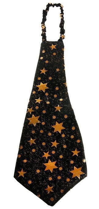 Галстук гигант черный со звездами от Vkostume