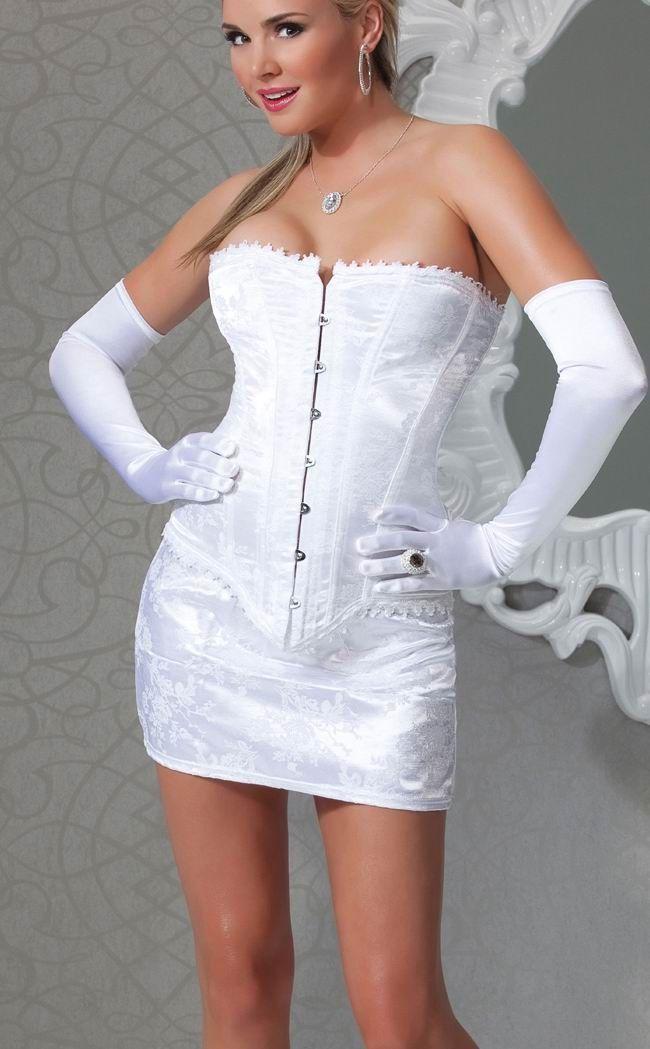 Белый цветочный корсет с юбочкой (50) Dg Lover 130640601