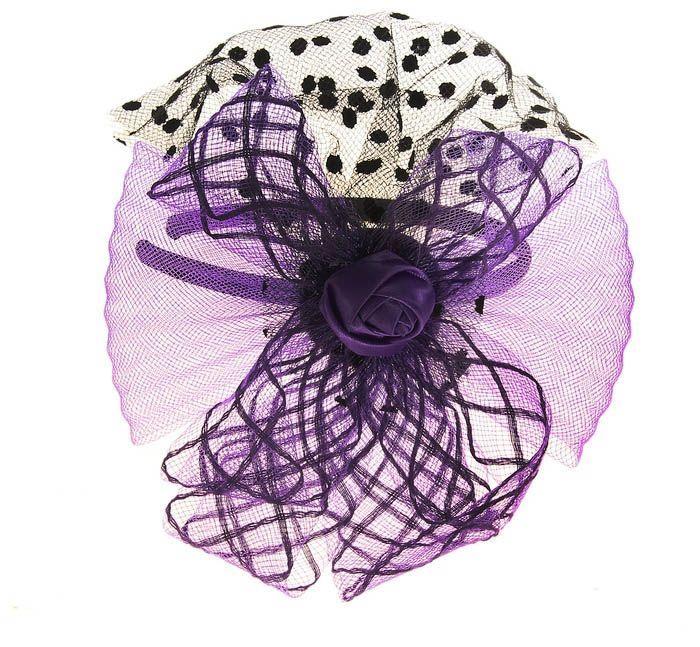 Фиолетовый карнавальный ободок от Vkostume