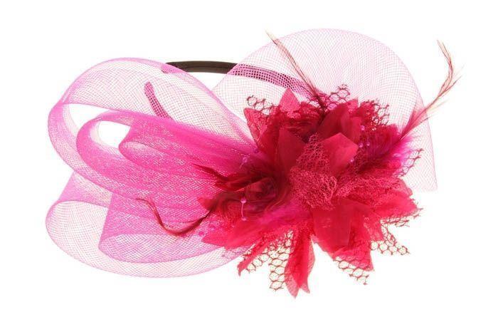 Разборный розовый ободок Эхинацея от Vkostume