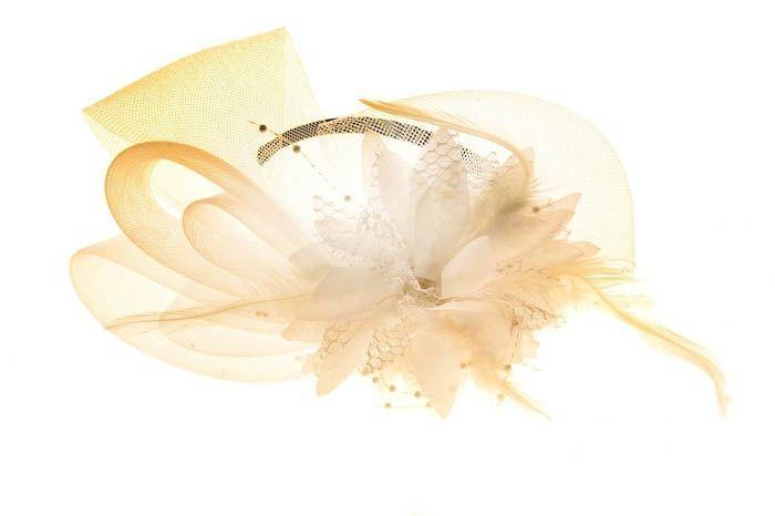 Разборный белый ободок Эхинацея от Vkostume