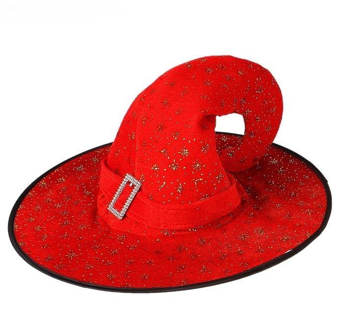 Шляпка ведьмочки красная (UNI) мини шляпка в горох uni