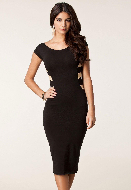 Облегающее черное платье (44) -  Ретро