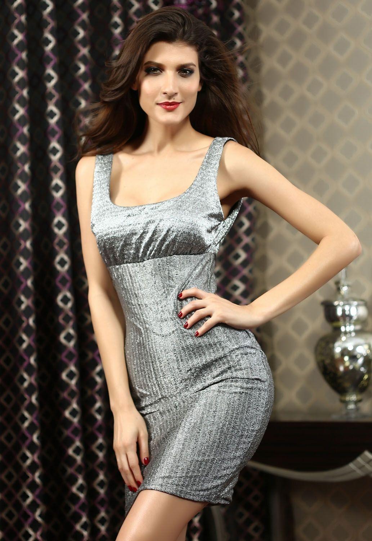 Блестящее платье металлик (48) платье интернет магазин недорого размер 48