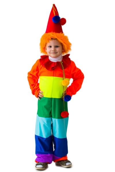 Детский костюм Радужного веселого клоуна (30)