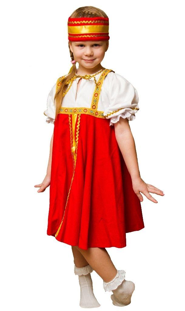 Детский костюм Русской красавицы (26-28) детский костюм озорного клоуна 34