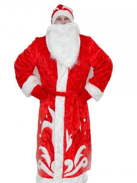 Костюм Деда Мороза для взрослых (52-54) детский костюм деда мороза голубой 38