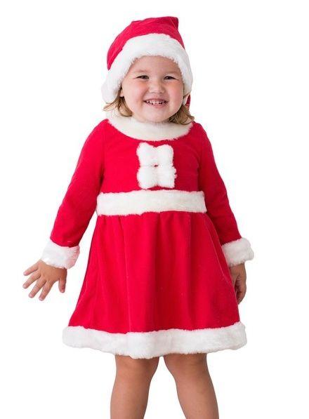 Костюм маленькой внучки Санты (32-34) костюм маленькой снежинки 32