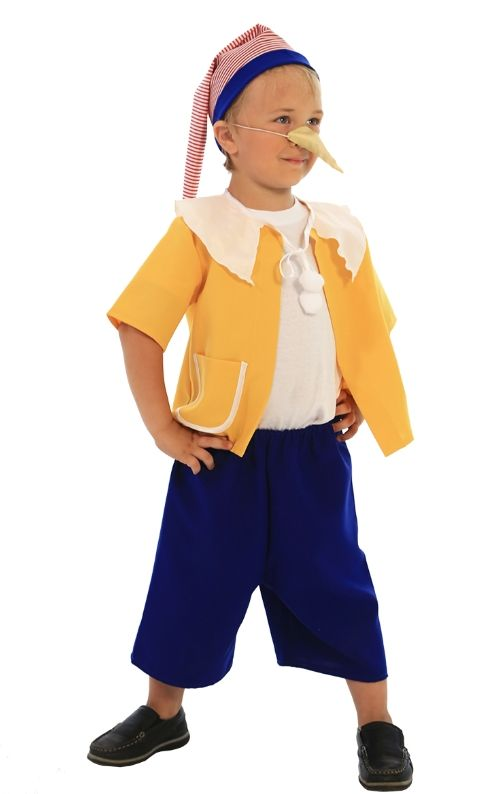 Детский костюм веселого Буратино (46) - Сказочные герои, р.46